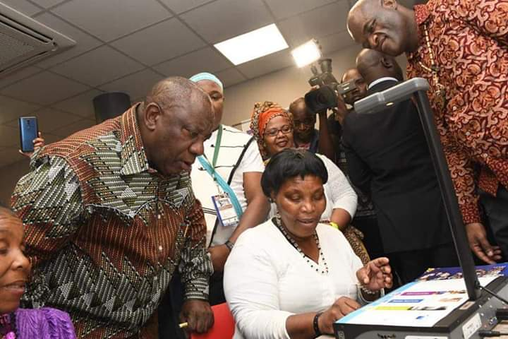 Opening of Sandile Present Community Library in Upington by President Cyril Ramaphosa
